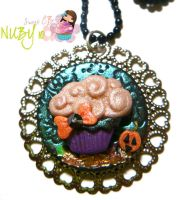 Halloween Cupcake medallion by colourful-blossom