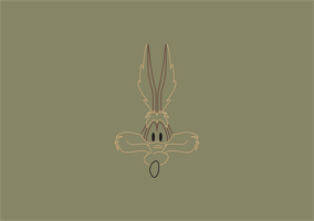 Wile E. Coyote Minimalist Background (LINES) by MinimalistBia