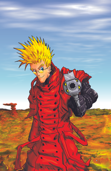 Vash The Stampede - Fan Art by JennerCarnelian