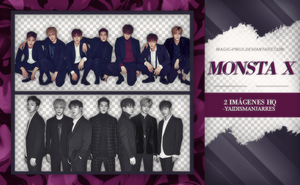 PACK PNG 335| MONSTA X by MAGIC-PNGS