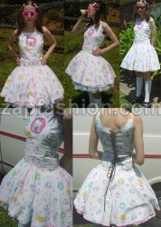 poofy hello kitty dolly dress by starfaerie