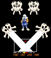 Outertale Sans - Battle by equilibrik