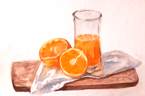 orange still life by Neivan-IV