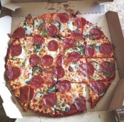 pepperoni and spinach pizza by Goldsand