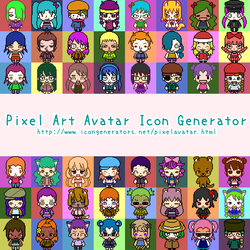 Pixel Art Avatar Icon Generator by h071019