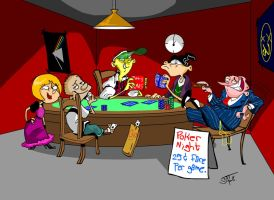 Poker Nights, 25 cents. by Schnab