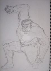 Here's an ugly sketch oh Hulk lol by NightFurion
