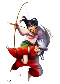 Inuyasha, watch out! by IreneMartini