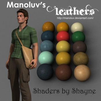Leather Shaders made in Daz Studio by TinaEvil