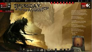 Dragon Hunt Rainmeter Desktop by ionstorm01