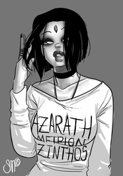 Casual Raven by SGTMADNESS