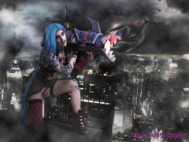 Jinx cosplay- Wanna blow something up? by YumeLujury