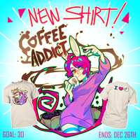 COFFEE ADDICT APPAREL by Krooked-Glasses