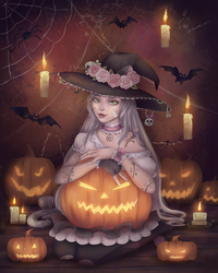 YCH Commision: Halloween by Orilone
