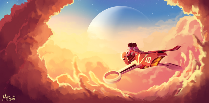 Ride over the clouds by m-arci-a