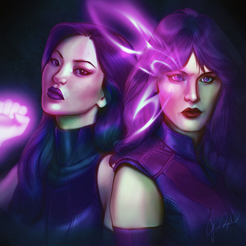 Revanche X Psylocke by pretty-cool-huh