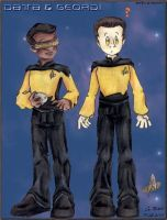 SD Geordi and Data by StephRatte