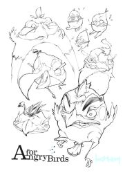 Angry Birds - OUTLINE Sketch by Minhky