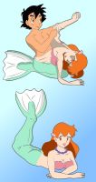 Ash To Mermaid Misty Colored by Dr-Scaphandre