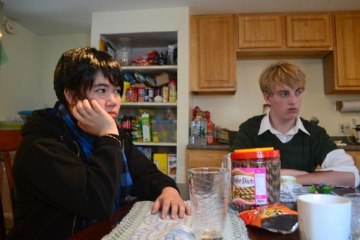 Japan and UK at a table- APH by FootFlavoredPotatoes