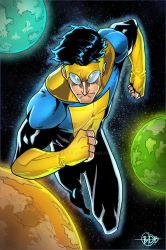 Invincible in the space by hulkred