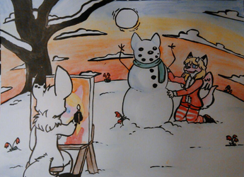 Winter Painting by Roketchu