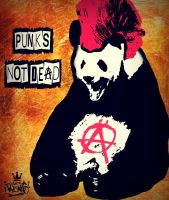 Punk Panda by Japoneis202