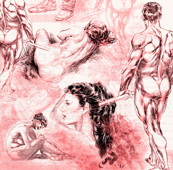 sketchs for anatomy drawing exercice by wamnick1