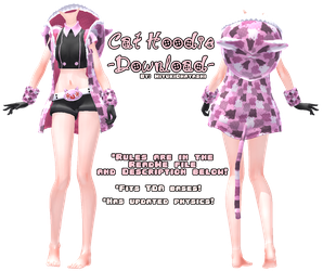 MMD Cat Hoodie edit DOWNLOAD by Smol-Hooman