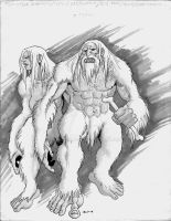 Monstrous/Epic Humanoid, Yeti by Level9Drow