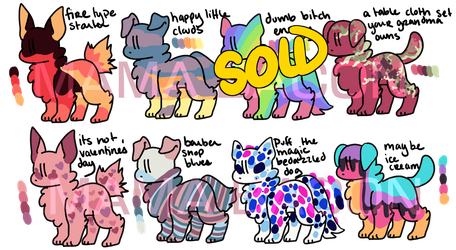 Dog Adopt Batch 3 - OPEN OPTA by Mama-Bacon
