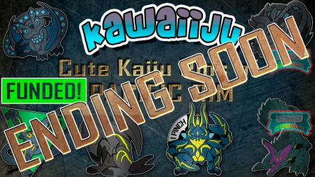 Kaiju Pin Kickstarter Ending Soon by YamiGriffin