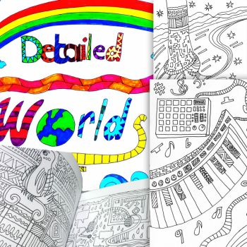 Detailed Worlds (Coloring Book) by kazaki03