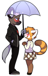{fanart} you can stand under my umbrella by ZodiacCloud