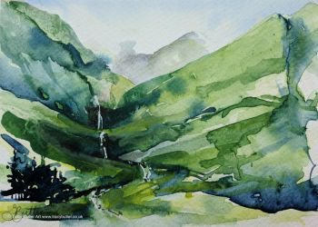 Behind the Drovers Inn, Loch Lomond by tracybutlerart