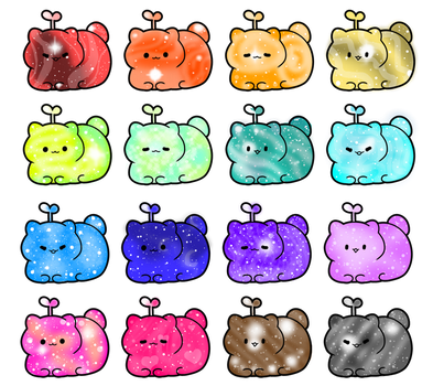 (Price Reduced) Galaxy Cat Beans [4/16] OPEN by MausyAdopts
