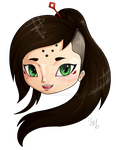 Chibi Head 1 - Kiki / Kiyo by Lyrizel