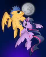 FlashLight: Midnight Flight by OneWingArt