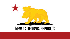 NewCalifornianRepublic Flag 2 by FragOcon