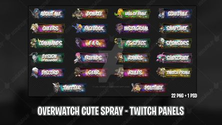 Overwatch Cute Spray - Twitch Panels by lol0verlay
