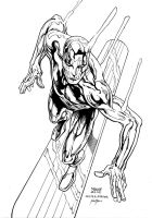 Inks - Silver Surfer by Manny Clark by adr-ben