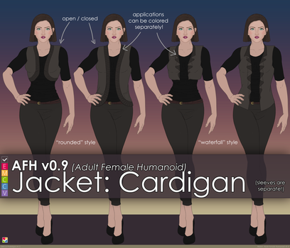 AFH: Jacket - Rounded and Waterfall by EMCCV