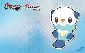 Mijumaru - Oshawott Wallpaper by Marki-san-Design