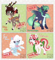 CLOSED - Christmas/Winter Pony Adopts by frostedpuffs