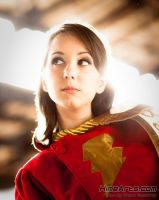Classic Mary Marvel Headshot by Riddle1