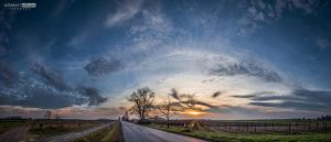 Sunset over way road by NorbertKocsis