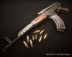 Dementiev's Assault Rifle AD-46 by Kutejnikov