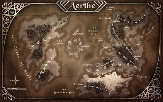 Aerthe Map Aged by Ultragriffy