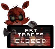 Foxy Art Trades Closed Stamp by InkCartoon