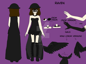 Raven creepypasta Reference Sheet by Raven-Plume